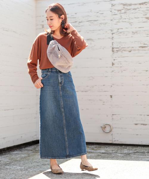 [Discoat] 【Lee/リー】デニムロングスカート