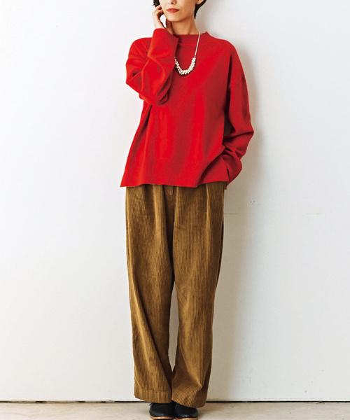 and myera 赤いセーター/ニット