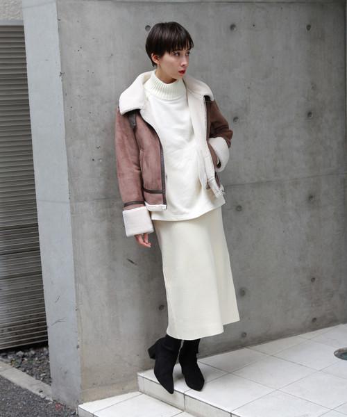 [PAGEBOY] リブニットタイトスカート