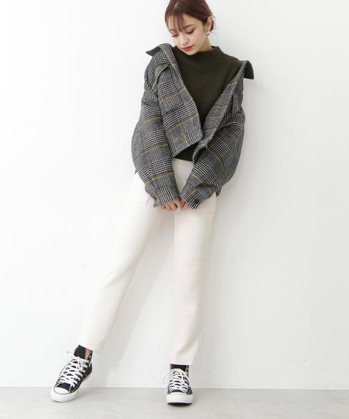 [N.(N. Natural Beauty Basic)] ◆ダブルポケットショートチェックブルゾン