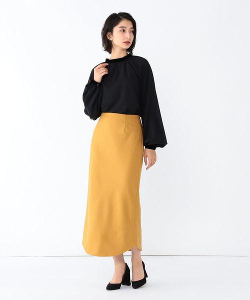 ウールボタニー ペンシルタイトスカート
