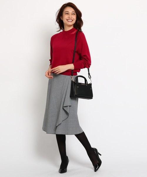 [COUP DE CHANCE] グレンチェックストレッチAラインスカート