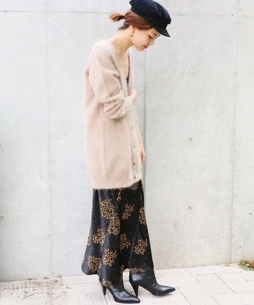 IENA LA BOUCLE モザイクプリントスカート◆