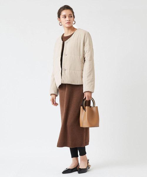 [titivate] 中綿Vネックジャケット