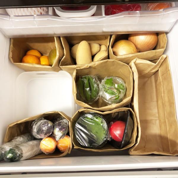 冷蔵庫の野菜室で