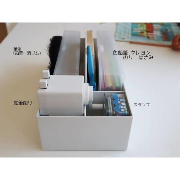 ホワイトグレーの収納キャリーボックス3