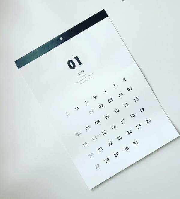 ノベルティのようなカレンダー