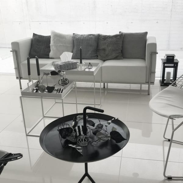 モノトーンで統一されたシンプルなお部屋