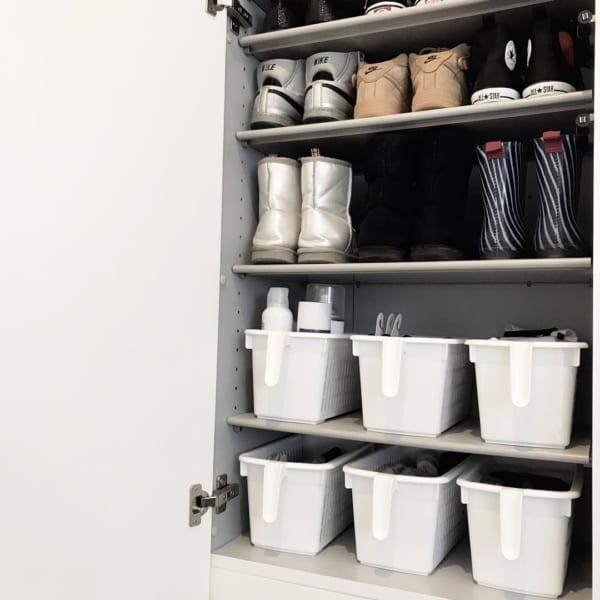 ソックスを靴箱に収納しても便利