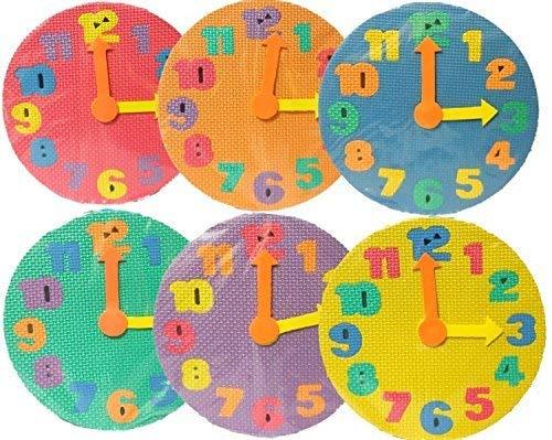 お風呂でパズル 時計 知育玩具 色ランダム