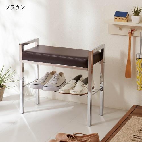 ベンチタイプの靴の収納アイテム例2