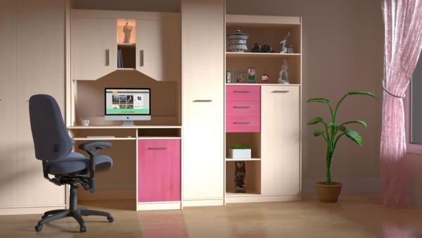 家具の一部をピンク色にして