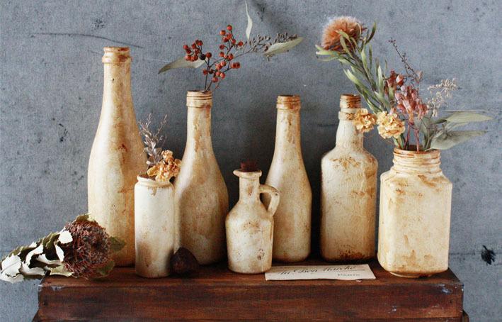 海外インテリアみたいな陶器風花瓶