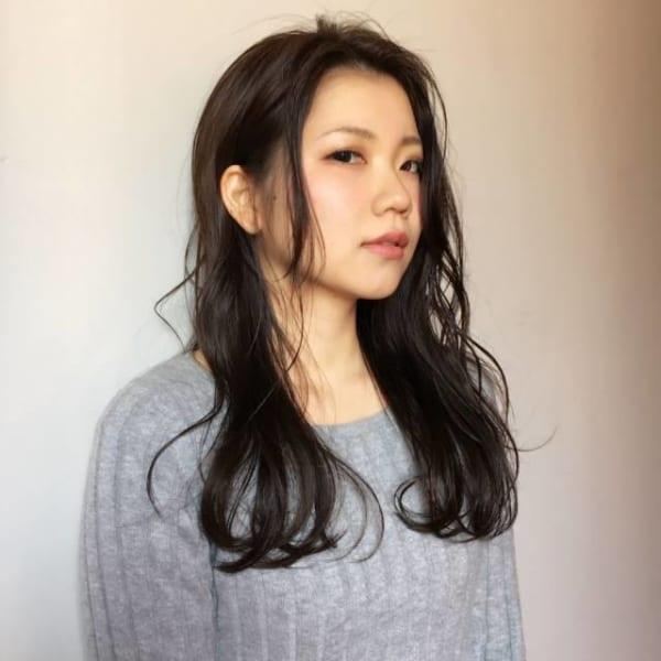 黒髪ロングヘア94