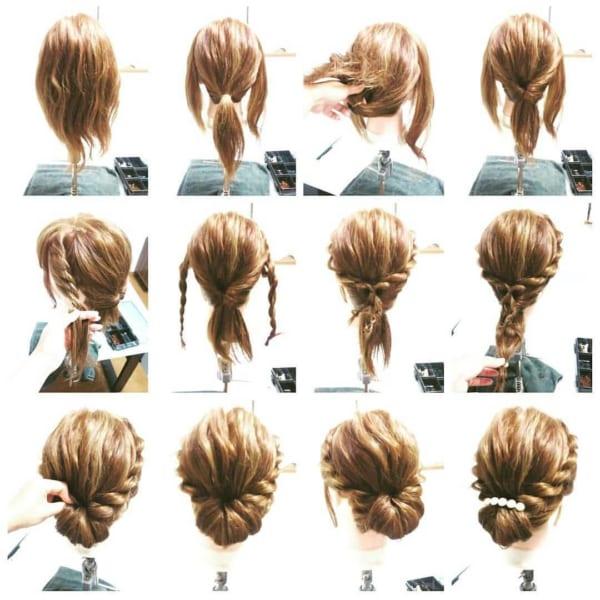 髪が多い人の簡単まとめ髪3
