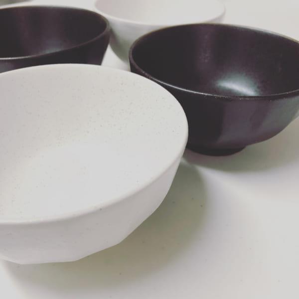 マットな質感の茶碗