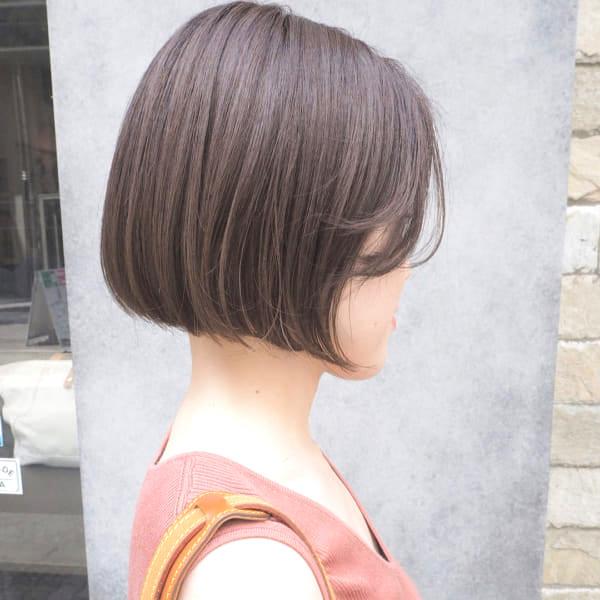 前下がりボブ髪型例24