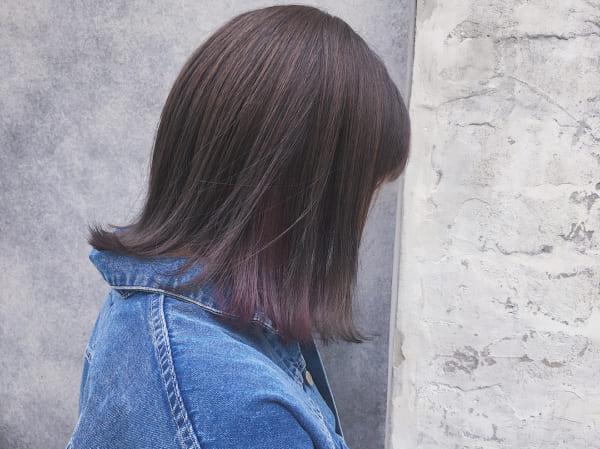 紫系のインナーカラー