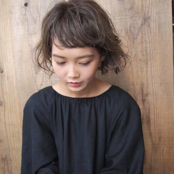 【ボブ】前髪ぱっつん髪型集20