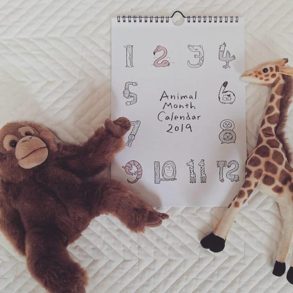 アニマルデザインのカレンダー