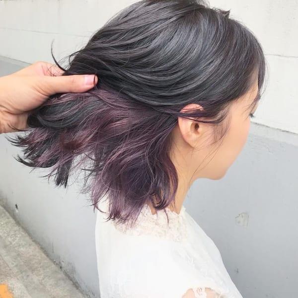 紫系のインナーカラー2