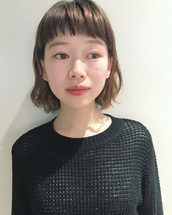 【ボブ】前髪ぱっつん髪型集21