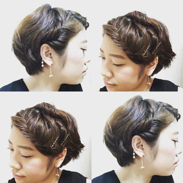 前髪アレンジ4