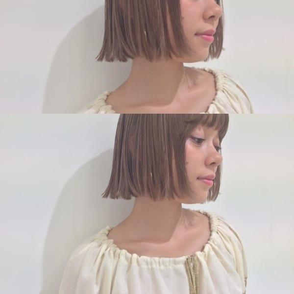 【ボブ】前髪ぱっつん髪型集22