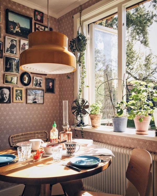 観葉植物を置いて出窓で育む5