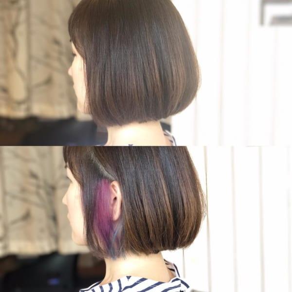 紫系のインナーカラー6