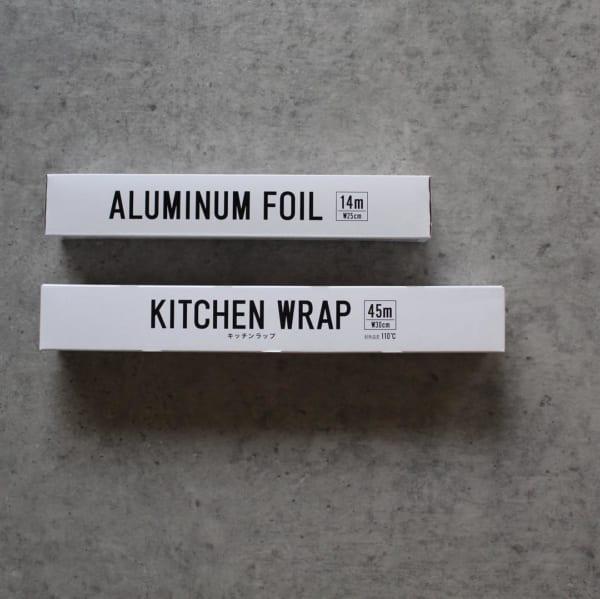 アルミホイルとキッチンラップ