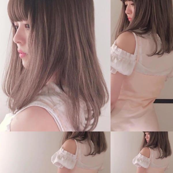 【ミディアム】前髪ぱっつん髪型集18