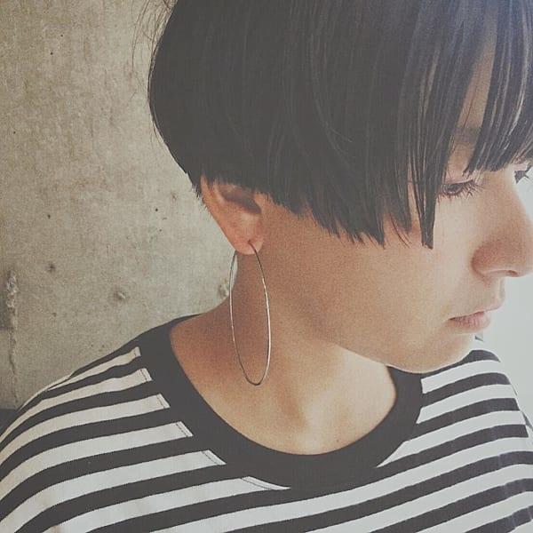 【ショート】前髪ぱっつん髪型集14