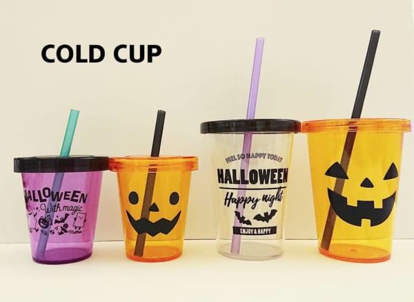 プラスチックカップもハロウィン柄