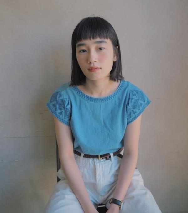 【ミディアム】前髪ぱっつん髪型集1.5