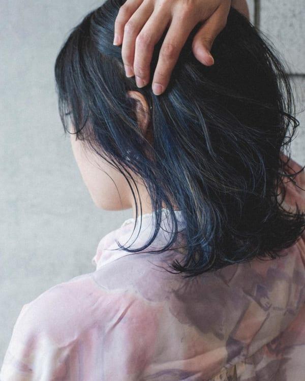 水色・青系のインナーカラー4