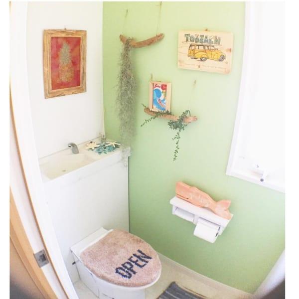 トイレにもぴったりなカリフォルニアインテリア3