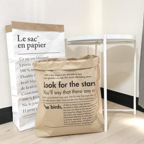 クラフト紙タイプのペーパーバッグ(キャンドゥ)
