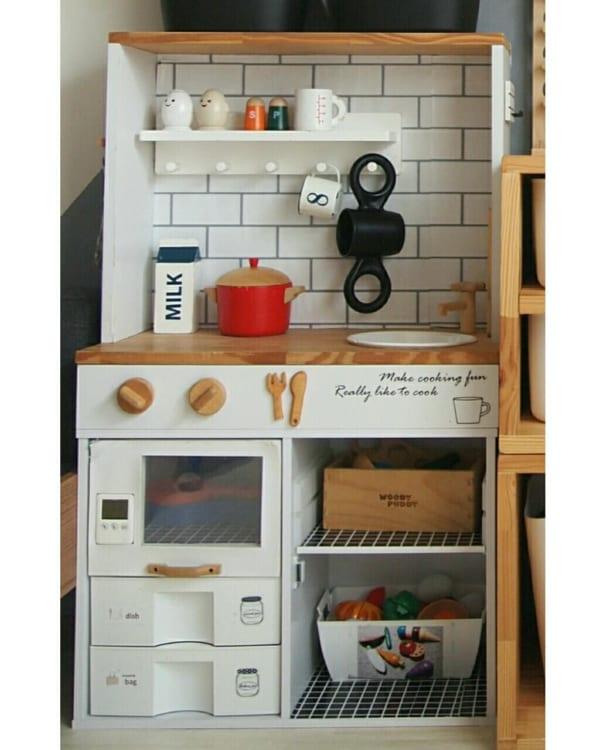 色んな物を活用して、見事なキッチンに