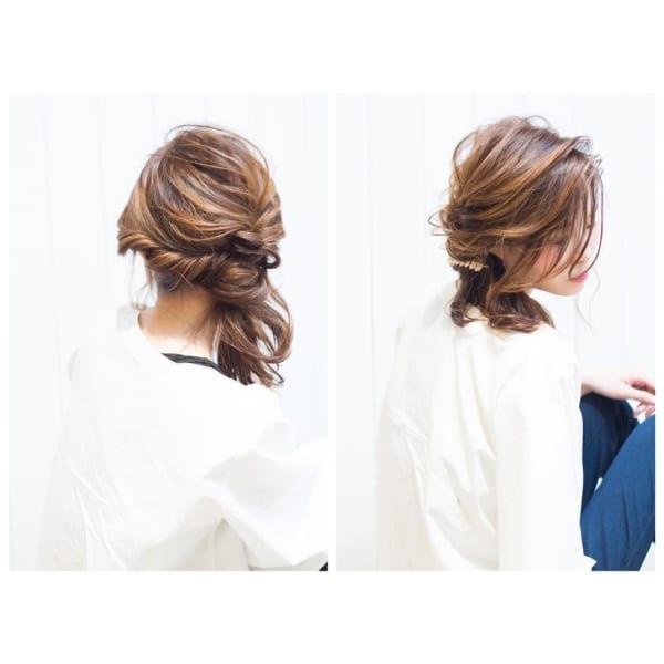 髪が多い人の簡単まとめ髪6