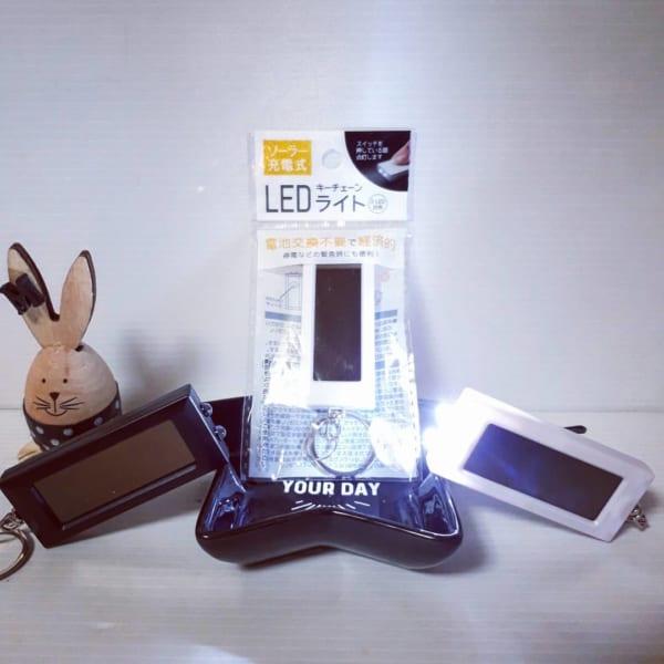 ソーラー充電式・LEDキーチェーンライト