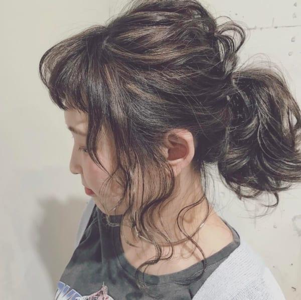 前髪ぱっつんアレンジ集16