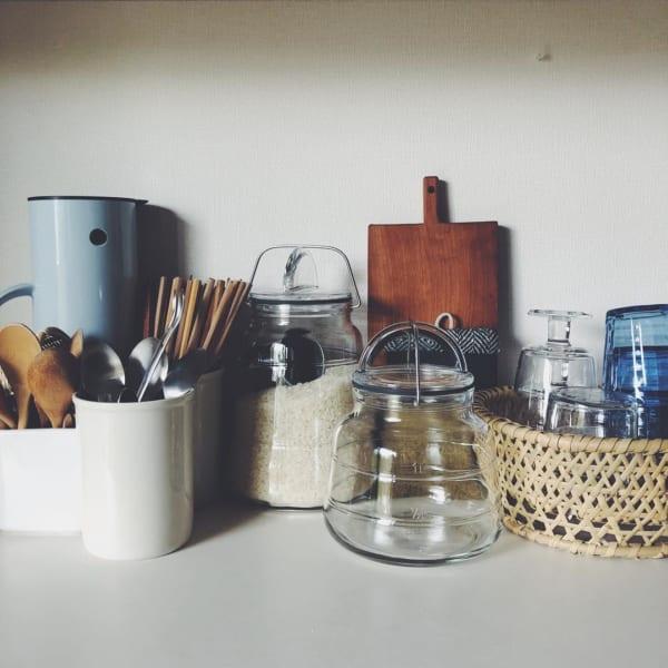 古道具と植物のある素敵な平屋暮らしのインテリア5