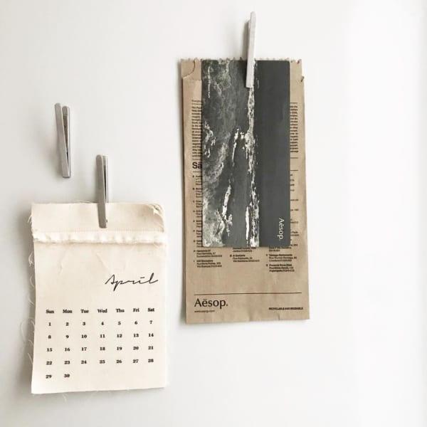 布製のカレンダー
