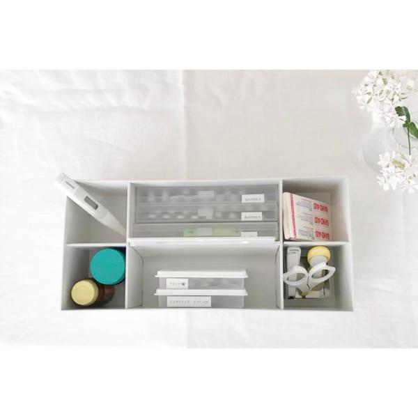 ホワイトグレーの収納キャリーボックス6
