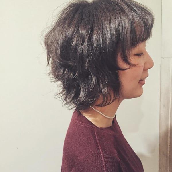 【ショート】前髪ぱっつん髪型集17