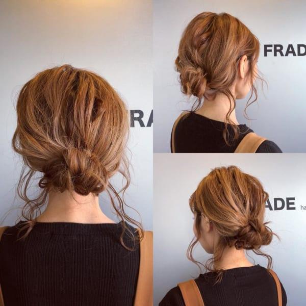 髪が多い人の簡単まとめ髪2