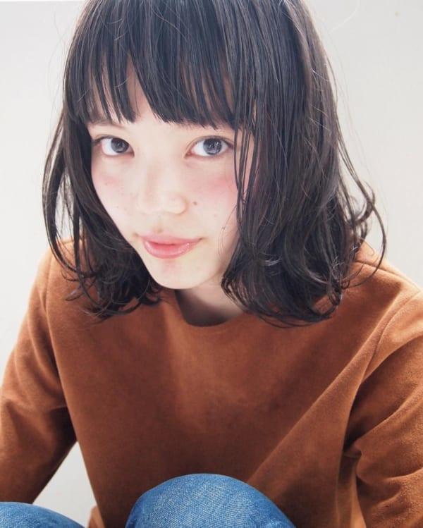 【ボブ】前髪ぱっつん髪型集16