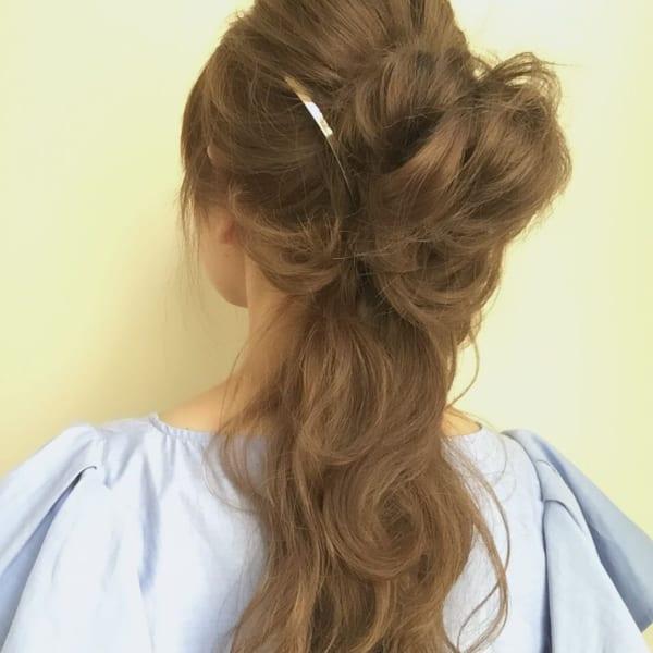 髪が多い人の簡単まとめ髪12