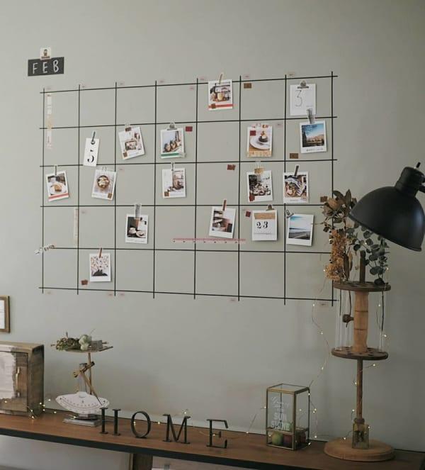 マスキングテープでウォールカレンダーを作成